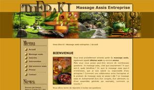 Exemple de création de site internet : massage assis en entreprise
