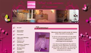 Exemple de création de site internet : décoration d'intérieur