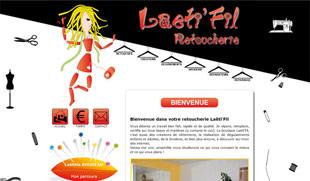Exemple de création de site internet : retoucherie Laeti'fil