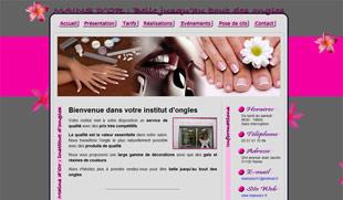 Exemple de création de site internet : onglerie Reims