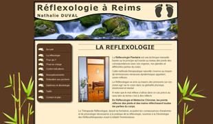 Exemple de création de site internet : réflexologie Reims