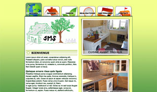 Exemple de création de site internet : tous travaux maison et jardin