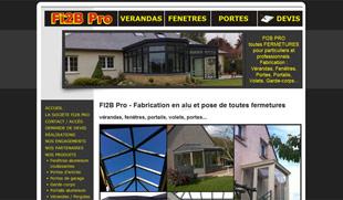 Exemple de création de site internet : vérandas, fenêtres, portes... à Reims