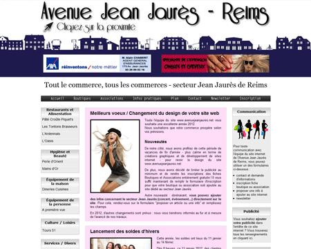 ddc04bcf7edfd7 Exemple de création site Internet Reims   boutiques, commerces et  associations du secteur Jean Jaurès