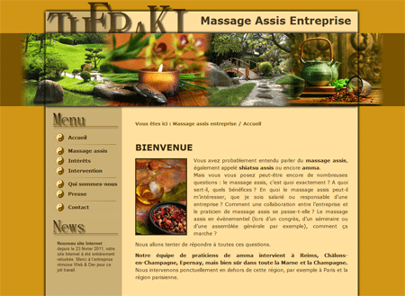 Exemple de creation site Internet Reims : Massage assis à Reims