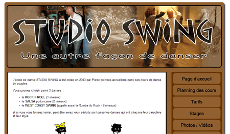 Exemple de creation site Internet Reims : Studio Swing
