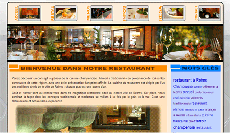 Exemple de creation site Internet Reims : Restaurant à Reims