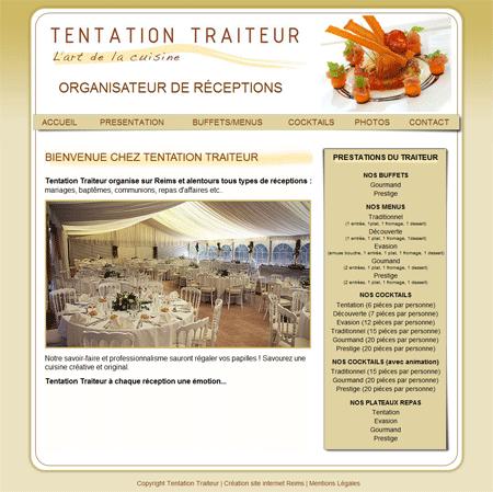 exemple de cration site internet reims tentation traiteur votre traiteur reims - Traiteur Mariage Reims